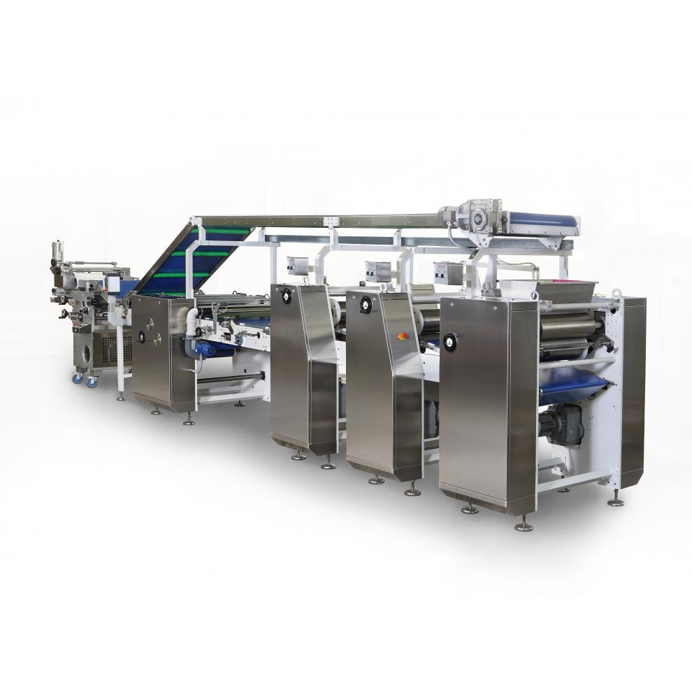 Линия для производства затяжного печенья «RCE600»    (рабочая ширина - 600 мм)